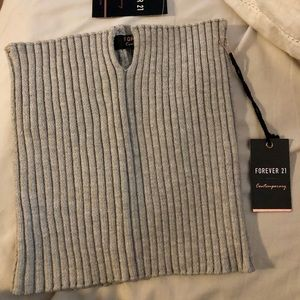 e0c9bc7a88a Forever 21 Tops - Forever 21 Heather Grey Sweater Knit Tube Top Gray
